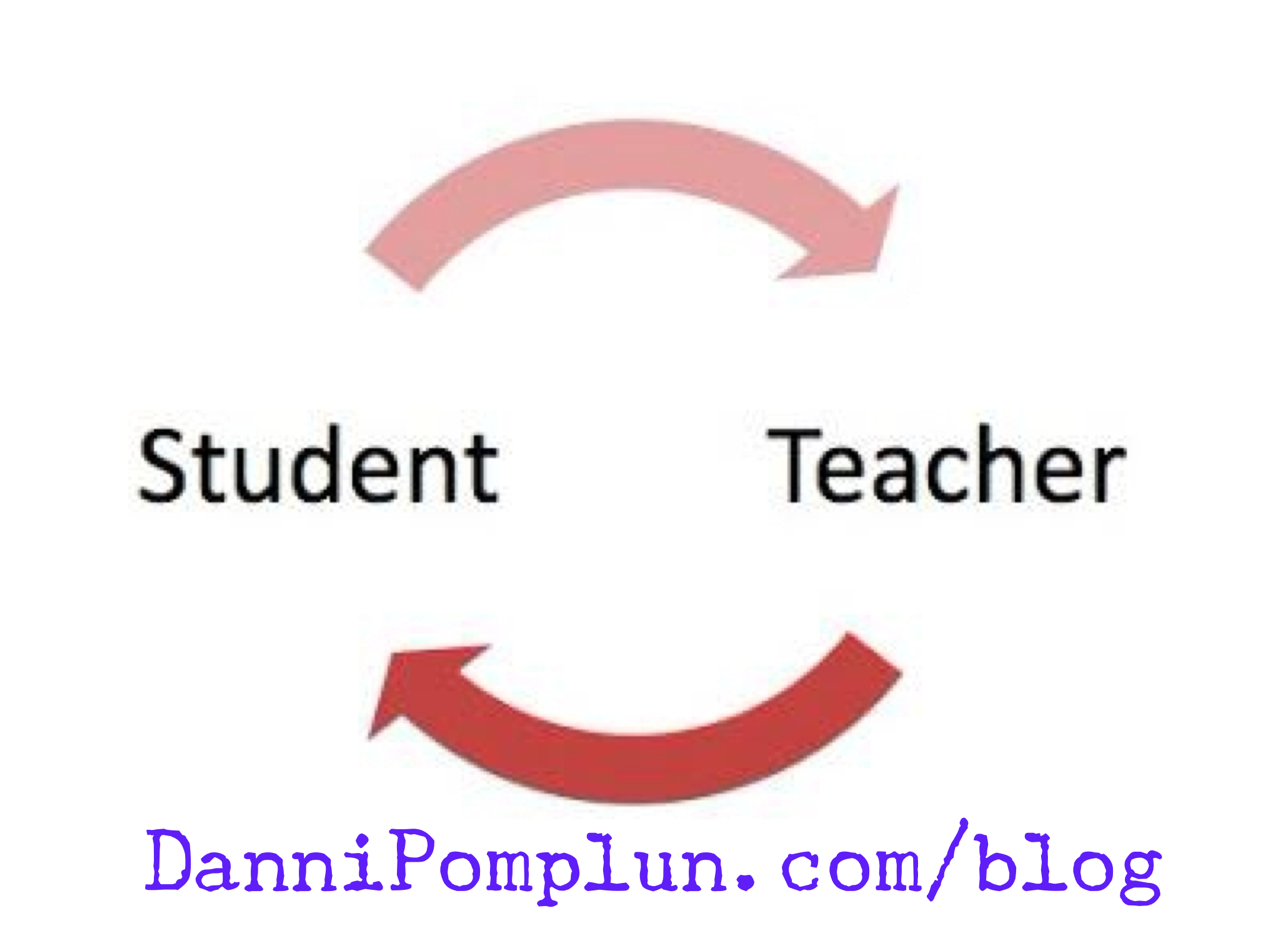 The student becomes the teacher